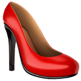 High-heeled Shoe Emoji on Apple macOS and iOS iPhones