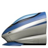 High-Speed Train Emoji on Apple macOS and iOS iPhones