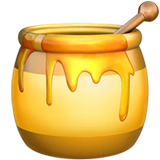Honey Pot Emoji on Apple macOS and iOS iPhones
