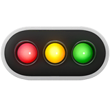 Horizontal Traffic Light Emoji on Apple macOS and iOS iPhones