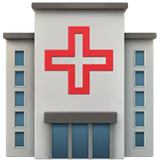 Hospital Emoji on Apple macOS and iOS iPhones