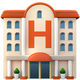 Hotel Emoji on Apple macOS and iOS iPhones
