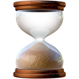 Hourglass Done Emoji on Apple macOS and iOS iPhones