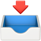 Inbox Tray Emoji on Apple macOS and iOS iPhones