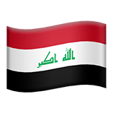 Flag: Iraq Emoji on Apple macOS and iOS iPhones