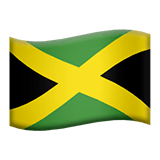 Flag: Jamaica Emoji on Apple macOS and iOS iPhones