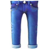 Jeans Emoji on Apple macOS and iOS iPhones