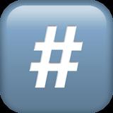 Keycap: # Emoji on Apple macOS and iOS iPhones