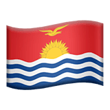 Flag: Kiribati Emoji on Apple macOS and iOS iPhones
