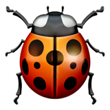 Lady Beetle Emoji on Apple macOS and iOS iPhones