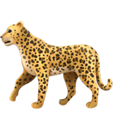 Leopard Emoji on Apple macOS and iOS iPhones