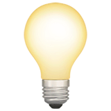 Light Bulb Emoji on Apple macOS and iOS iPhones