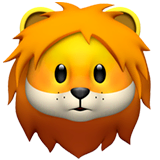 Lion Emoji on Apple macOS and iOS iPhones