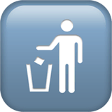 Litter In Bin Sign Emoji on Apple macOS and iOS iPhones