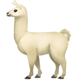 Llama Emoji on Apple macOS and iOS iPhones