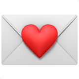 Love Letter Emoji on Apple macOS and iOS iPhones