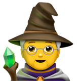 Mage Emoji on Apple macOS and iOS iPhones