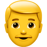Man Emoji on Apple macOS and iOS iPhones