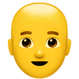 Man, Bald Emoji on Apple macOS and iOS iPhones