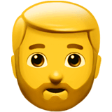 Man: Beard Emoji on Apple macOS and iOS iPhones