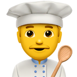 Man Cook Emoji on Apple macOS and iOS iPhones