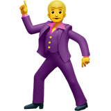 Man Dancing Emoji on Apple macOS and iOS iPhones