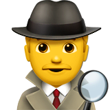 Man Detective Emoji on Apple macOS and iOS iPhones
