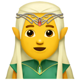 Man Elf Emoji on Apple macOS and iOS iPhones