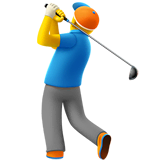 Man Golfing Emoji on Apple macOS and iOS iPhones