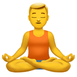 Man In Lotus Position Emoji on Apple macOS and iOS iPhones