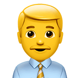 Man Office Worker Emoji on Apple macOS and iOS iPhones