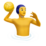 Man Playing Water Polo Emoji on Apple macOS and iOS iPhones