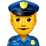 Man Police Officer Emoji on Apple macOS and iOS iPhones