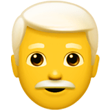 Man, White Haired Emoji on Apple macOS and iOS iPhones