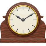 Mantelpiece Clock Emoji on Apple macOS and iOS iPhones