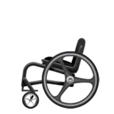 Manual Wheelchair Emoji on Apple macOS and iOS iPhones