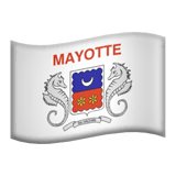 Flag: Mayotte Emoji on Apple macOS and iOS iPhones