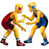 Men Wrestling Emoji on Apple macOS and iOS iPhones