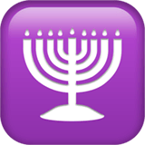 Menorah Emoji on Apple macOS and iOS iPhones
