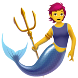 Merperson Emoji on Apple macOS and iOS iPhones