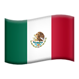 Flag: Mexico Emoji on Apple macOS and iOS iPhones