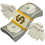 Money With Wings Emoji on Apple macOS and iOS iPhones