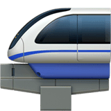 Monorail Emoji on Apple macOS and iOS iPhones