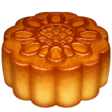 Moon Cake Emoji on Apple macOS and iOS iPhones