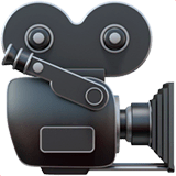 Movie Camera Emoji on Apple macOS and iOS iPhones