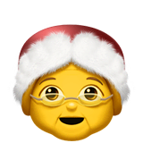 Mrs. Claus Emoji on Apple macOS and iOS iPhones