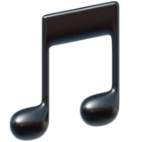 Musical Note Emoji on Apple macOS and iOS iPhones