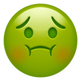 Nauseated Face Emoji on Apple macOS and iOS iPhones