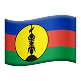 Flag: New Caledonia Emoji on Apple macOS and iOS iPhones