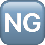 NG Button Emoji on Apple macOS and iOS iPhones